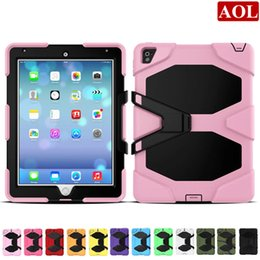 "Wholesale Case Epacket - Free Shipping by ePacket For New iPad 2017 pro 9.7"" Shock Proof Military Heavy Duty Hard defender Case Cover 12 Colors"