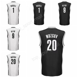 Wholesale Color L - 2017 Printed 1 DAngelo D Angelo Russell Jersey Black White Color 20 Timofey Mozgov 9 Jarrett Allen Basketball Jerseys Sports Free Shipping