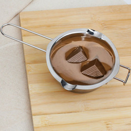 Wholesale Chocolate Bakery - Wholesale- 1Pc Stainless Chocolate Melting Pot Butter Milk Pouring Bowl Kitchen Bakery Baking Mixing Tools Helper Gadgets Bakeware
