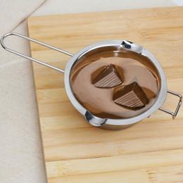 Vente en gros- 1 Pc Inoxydable Chocolat Fondeur Beurre Lait Verser Bol Cuisine Boulangerie Cuisson Mélanger Outils Helper Gadgets Ustensiles de Cuisson ? partir de fabricateur