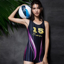 Wholesale Sexy Swimsuit Cover Belly - Hot sport professional swimsuit Siamese boxer backless thin cover belly sexy bikini