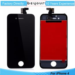 Wholesale Iphone 4s Complete - Good AAA Quality For iPhone 4 4s LCD Display Touch Digitizer Complete Screen with Frame Assembly Replacement