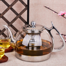 Wholesale Free Teapot - free shipping heat resistant glass teapot electromagnetic furnace multifunctional teaports Induction cooker kettle