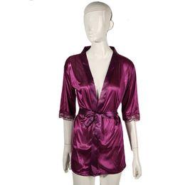 Wholesale Hot Women Nightdress - Wholesale- 100% Brand New Women Satin Lace Silk Soft Underwear Lingerie Nightdress Sleepwear Robe Sexy Pajamas Nighty Hot