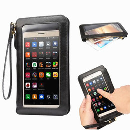 Wholesale Touch Screen Wallet - (6.3inch) Fashion Leather Case Touch Screen + Small Shoulder Crossbody Pouch + Wallet Bag for Samsung Galaxy S7 edge S7 edge plus Phone Bag