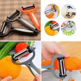 Wholesale Cooking Gadgets Wholesale - Vegetable Fruits Peeler 360 Degree Rotary Potato Cucumber Carrot Slicer Cutter Kitchen Cooking Tools Gadget OOA3249