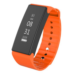 Wholesale Cameras Moniter - 10pcs Bluetooth 4.0 Smart Wristband Heart Rate Moniter Pedometer Sport Smartband 0.86 inch IP67 Waterproof for Android iOS