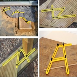 Wholesale Tile Tools Wholesale - 2017 new Measuring Instrument Angle-izer Template Tool Four-Sided Ruler Mechanism Slide All Angel Forms For Builders Craftsmen Repetitive