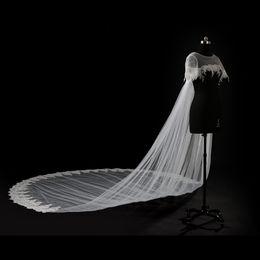 Wholesale Bridal Tulle Shawl - 100% Own Design 2017 White Ivory Long Wedding Capes Cloaks Custom Size Bridal Boleros Jackets Wraps robe de mariage Wedding Shawls