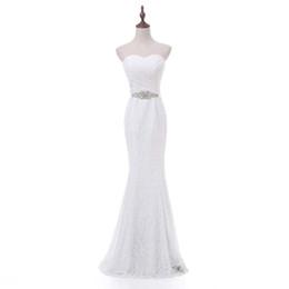 New Brand 2017 Designer Abito da sposa stile sirena Sweetheart pizzo abito da sposa corsetto indietro con liste da