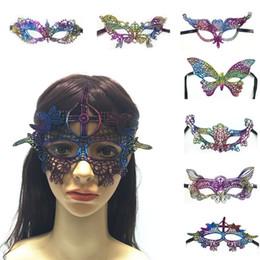 2019 patch di occhio sexy Nuovi 15 stili Colorful Sexy Lace eye mask masquerade per Halloween Cosplay Party Unshaped maschere festival IA676 patch di occhio sexy economici