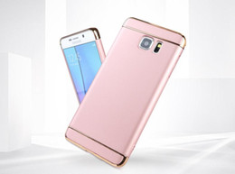 Wholesale Three Mobile Cell Phones - Samsung NOTE 7 note 5 cell phones three in one PC electroplated phone case mobile phone cover mobile phone shell