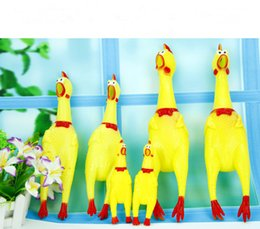 Wholesale Chicken Toy Sound - BFFA125 New Rubber Shrilling Animals Size S M Screaming chicken vent toy and shrilling sound toy Christmas gift