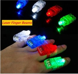 Doigts laser à vendre-LED Finger Lamp Anneau de doigt Lights Lights Glow Laser Finger Beams LED clignotant Ring Party Kid Kid Led Toys 4 couleurs b1472