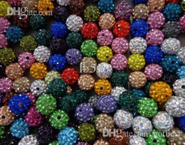 Wholesale Cheap Music Necklace - Cheap! free shipping 10mm Mixed Color Micro Pave CZ Disco Ball Crystal Shamballa Bead Bracelet Necklace Beads.Wholesale! Stock!g2525 x82
