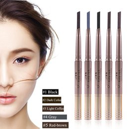 Wholesale Gold Eye Pencil - Wholesale- 1PC NEW Automatic Waterproof Gold Eye Brow Eyeliner Eyebrow Pen Pencil Makeup Cosmetic Design Tool
