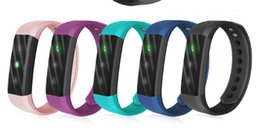 Wholesale Android Home Alarm - ID115 HR Smart Wristband Heart Rate Monitor Fitness Bracelet Alarm Clock Smart Band Waterproof for iphone Android phone