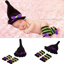 Wholesale Costume Photo Photography Props - Baby Costume Crochet Baby Cap Wizards Suit Cap Newborn Photography Props Design Baby Hat Crochet Lovely Photo Props Knitted BP078