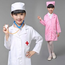 Wholesale Child S Mask - Q228 Children Halloween Cosplay Costume Kids Doctor Costume Nurse Uniform Girls With Hat +Mask 18