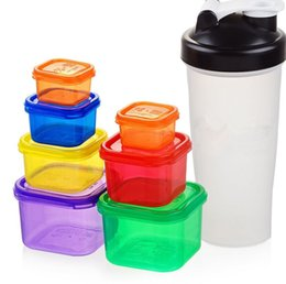 Wholesale Universal Weight - 21DAY FIX Portion Control Container Kit Weight Loss Shaker Bottle Protein Shaker Bundle food storage containers KKA1297