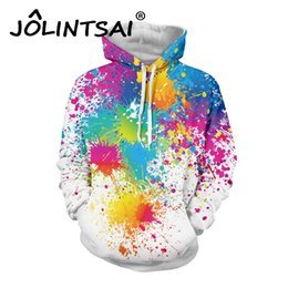 painting for lovers Coupons - Wholesale- New Fashion Hoodies for Lovers Men's 3D Sweatshirt Fashion Print Oil Painting Hoodies Lovely Tracksuits Hoody with Pockets