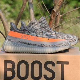 Wholesale Uv Peach - 350 V2 Boost 2017 Best Quality SPLY-350 V2 V3 boost CP9366 Triple White Zebra UV Kanye West Sneakers Men Women Running Shoes Size 5-11.5