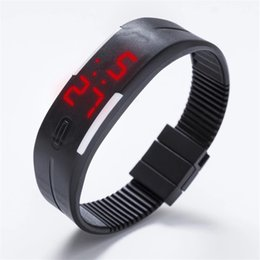 Wholesale Led Watches For Women - Candy Color Men Women Watch Rubber LED kids Watches Date Bracelet Digital Sports Wristwatch for student