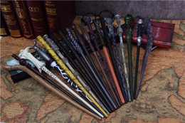 Wholesale Wholesale Harry Potter Wands - 18 designs Harry Potter Cosplay Toys hp Harry Potter Magic Wand with a Gift Box Kids Wand Toys Kids Christmas gift for children