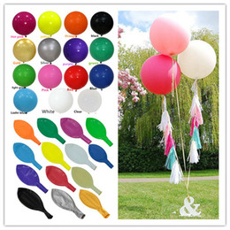 Wholesale Baby Giants - 10pc 36 inch Big Round Latex Balloon Clear White Pink Wedding Decoration Baloons Baby Birthday Party Valentine's Day Decor Giant Balloon