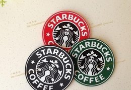Wholesale Free Coffee Tables - Starbucks Logo Mermaid Silicone Coaster Round Plate Mat Mugs Coffee Cup Mat Pad Table Decoration DHL Free