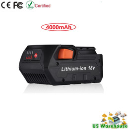Wholesale lithium ion battery for tool - 18V 4.0Ah Lithium-Ion Battery for RIDGID 18Volt Cordless Power Tools R840087 R840085 R840083