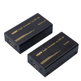 Wholesale Rj45 Shielded Cable - Extender Transmitter TX RX 60M HD 1080P HDMI with CAT5e CAT6 RJ45 Ethernet Cable Support HDMI 3D for TV Projector DVD Hot