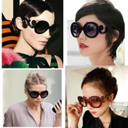 Wholesale Resin Baroque - High Quality With Big Stars In Tide Brand Catwalks Baroque Sunglasses Spray Clouds Butterfly Wings Sunglasses