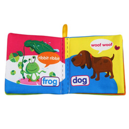 Wholesale Cloth Soft Book - 0-12 Month Intelligence Development Toy Soft Cognize Reading Cloth Book Animals Cars Educational Infant Baby Toys Book Kids Toys