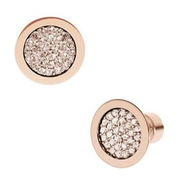 Wholesale Wedding Numbers - New York Fashion crystal stud earrings tone letters earrings imitation diamond brand Wedding Jewelry for women silver gold rose gold