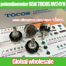 Wholesale 5k Potentiometer - Wholesale- 3pcs welding potentiometer B5K TOCOS RV24YN 20S B502 5K B501-B105   501 102 202 302 502 103 203 303 503 104 204 254 304 504 105
