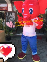 Wholesale Pooh Costume Xxl - 11 free shipping high quality elephant mascot costume with mini fan inside the head for sale pooh bear