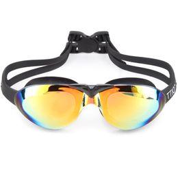 Wholesale Child Swim Goggles - TTIO 100 Adult Swimming Goggles Anti-Fog PC Swim Glasses Anti-UV Unisex Swim Eyewear with Case