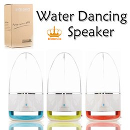 Wholesale Play Computers - Dancing Water Speaker Portable Wireless Bluetooth Speaker Powerful Stereo Sound and LED Light Show Music Fountain with 3 Play Modes