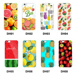 Wholesale Pineapple Cover - Lovely Colorful Summer Fruit Phone Case Cover for iPhone 8 7 Plus 6 6s 5S 5 SE Strawberry Watermelon Pineapple for iPhone8 case