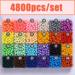 Wholesale Sticky Beads - Wholesale-24Color Water Aqua beads toys sticky perler beads pegboard set fuse beads jigsaw puzzle Water beadbond educational toys diy kids