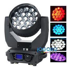 Wholesale Cheap Party Strobe Light - Factory Cheap 15WX19 Zoom RGBW 4in1 Led Beam Moving Head Wash DJ Party Stage Lights Projector Strobe Led Fog Lights Sharpie Movable Beam