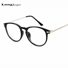 Wholesale Wholesale Designed Eyeglasses - Wholesale- High quality women men eyeglasses clear lens computer glasses frame brand design round plain eye glasses oculos feminino