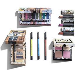 Pennello più nuovo trucco online-Più nuovo trucco 8 colori Jean-Michel Basquiat Tenant Eyeshadow Palette Matte Diamond Glitter Shimmer Eye Shadow Palette Bellezza con pennello