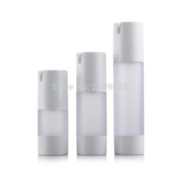 Wholesale 15ml Airless Cosmetic Bottles - 15ml 30ml 50ml Airless Bottle Frosted Vacuum Pump Lotion Refillable Bottles Used for Cosmetic Container 10pcs lot