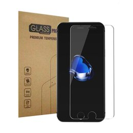 Wholesale Clean Iphone Glass - 0.2mm Tempered Glass Screen Protector For iphone 6 6s 6plus 7 7plus Samsung S8 HD Toughened Protective Film+Clean Kit
