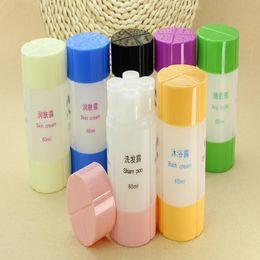 черная затяжка Скидка 6 цветов 3 в 1/4 в 1 портативный пластиковый пустую шампунь для ванны с кремом для бутылок