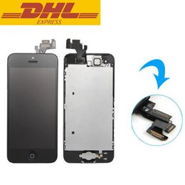 Wholesale Oem Apple Home Button - 4.0inch 5g OEM LCD Display Touch Screen Digitizer + Frame With Home Button Front Camera Full Assembly For Iphone 5 5G Wholesale