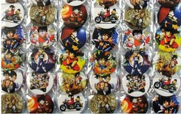 Wholesale Anime Pin Sets - New Cartoon 48pcs set Japanese anime Dragon Ball Pin Badges,Round Brooch Badge Kids Clothing Accessories 4.5 cm A--8