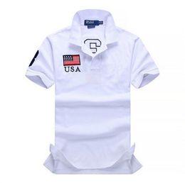 Wholesale Logo Shirts Business - Horse Logo RL Polo Shirt Men 2017 Cotton Polo Ralph Men's Shirts Business Men's Brand Polo Shirt Short Sleeve Plus Size